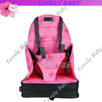 Wholesale New Portable Booster Seat Baby Infant Child seat bag safety car cushion adjustable straps Travel High Chair
