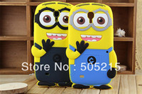 Cheap Free Shipping despicable me minions 3D cartoon case for Samsung Galaxy Mega 6.3 i9200 silicone soft back cute skin X 1