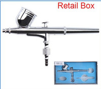 airbrush   dual action airbrush air brush kit Spray Gun for Nail Art body tattoos spray cake toy models