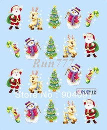 Wholesale Christmas Nail Art sticker Design nail accessories for nail art
