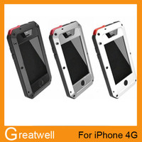 Wholesale Lunatik Taktik Metal Aluminum Case Protection Cover Gorilla Glass for iPhone S G S Waterproof Shockproof Retail Box