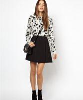 Wholesale 2014NWT Spring Europea Style Fashion Ladies Blouses Women s Sexy Cats Pattern Blouses LB030