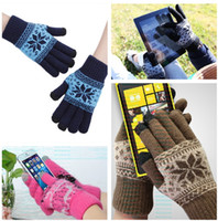 Wholesale New Vogue Soft Touch Screen Texting Knit Stretchy Gloves For Smartphone Tablet Pad Warm Keeping Colors Choose DLU