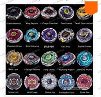 Wholesale LLFA4157 Beyblade Metal Fusion D System LOOSE Battle Top Set masters Styles Can choose kids game toys