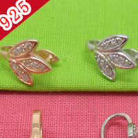 Wholesale Min piece Real Sterling Silver Fashion Flower shaped Pinch Bail Clasp Jewelry Connectors