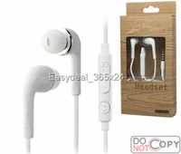 For Samsung box and - Handsfree Earphone Headset with MIC and Volume Control headphone for Samsung Galaxy S4 SIV i9500 with retail box Quality A