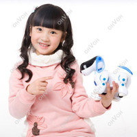 Wholesale S5Q Robotic Electronic Walking Pet Dog Puppy Kids Children s Toy With Music Light AAACFH
