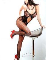 Wholesale 2014 fashion lady s sexy lingerie lace lingerie open crotch body stockings Net costumes fishnet bodysuit