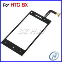 Wholesale For HTC Windows Phone X Replacement Original Touch Screen Glass Lens Digitizer Repair Part Black