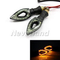 Wholesale Neverland New x LED Motorcycle Turn Signal Indicator Light Bulb Blinker Flash Amber Light For Motorcycle Bike For Cycling Safety
