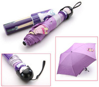 Wholesale Kokeshi Doll Umbrella Folding Hard Case Geisha Girl Japanese Lady styles Available