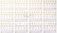 Wholesale 12 Sheets NEW Gold D Nail Art Stickers Metallic Gold Zipper Zips