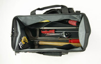 Wholesale 2014 Practical Black Tool Bags Thicken Waterproof Fabric Shinning Black and Red Color PE Board on Bottom Multi Pockets Designed EPG001M