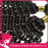 Wholesale 4pcs Curly Brazilian Virgin Hair Weave Deep Wave Unprocessed Human Hair Extensions g pc