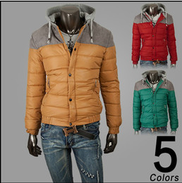 Wholesale Hot New Male Han Edition With thick cotton padded jacket winter coat