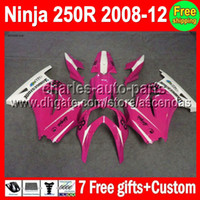 Wholesale 7gifts New Fairing For Kawasaki rose white Ninja R ZX250 ZX new pink ZX250R