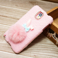 Korea Kawaii Sweet Tail Rabbit Case Soft Touch Feeling Prote...