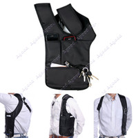 Nylon 007 - Anti Theft Hidden Underarm Shoulder bag man Holster Black Nylon Multifunction Redalex Inspector Shoulder Bag Agent Bond Bag