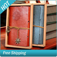 Wholesale Vintage x14cm Leather Journal Pattern Spiral Memo Creative Notebook Random Color