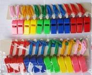 Wholesale Whistle Dynamic Atmosphere Whistles Referee Special Kids Toys Cheerleading Accs Plastic Whistle With Lanyard