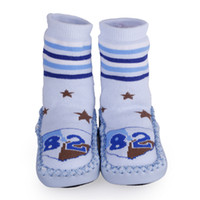 Unisex 6-12T Summer 1 Pair Newborn Unisex Baby Embroidered Floor Antiskid Shoes Socks Anti-slip Blue Little Stars Booties Prewalking Boots 6-24 Months DIU3