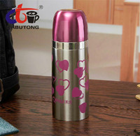 Wholesale 350ml Stainless Steel Carry Water Tea Bottle Travel Leak Proof Vacuum Thermos Flask Water Bottle Fashion Metal Design jas0010
