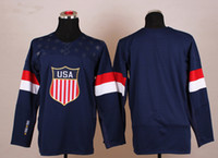 Ice Hockey Men Full Team Russia Ice Hockey Jerseys Blank Blue for 2014 Sochi Winter Olympics Size 48-56