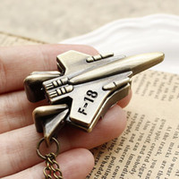 Wholesale NEW New Vintage Pocket Plane Watch Necklace Fighter Quartz For Children Gift Pendant