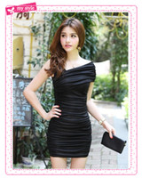 Wholesale 2014 Fashion Casual Runway Dress Fashion Street Style Summer Prom Dresses For Women Vintage Evening Party Skirt Beige Black