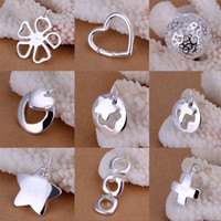 Wholesale Mixed Orders Sterling Silver Cute Fashion Pendants Unique Design Charms Pendant Fit Necklace Mixed