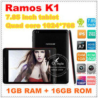 Wholesale Original Ramos K1 quot IPS Screen Mini Pad Tablet PC A31S Quad Core Android Bluetooth HDMI WIFI MP MP Dual Cameras