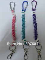 Wholesale Hot selling Breast cancer braid rope bracelet necklace key chain