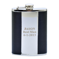 Wholesale Personalized Stainless Steel Hip Flask OZ Pocket Wine Flask Wedding Gift