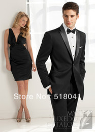 Wholesale Wedding Suits for Men Pieces one coat one trousers one inner vest one shirt one tie TM1106 mens suits and tuxedos
