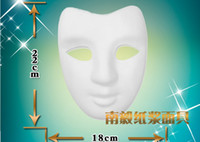 Wholesale DIY V shape masks plain white full face Blank paper match masks