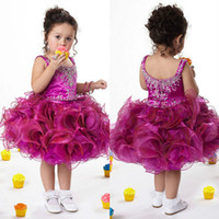 Reference Images Baby Chiffon scoop nedckline short pageant dresses for little girls bungunry scoop tiered skirt ruched organza ball gown mini