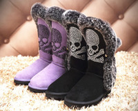 Cheap Winter Boots Black Flat Shoes Women Knee High Leather Boots