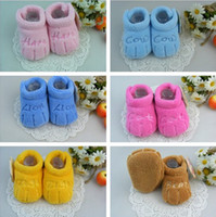 Wholesale Newborn Toddler Unisex Boys Girls Anti slip Cartoon Small Claws Plush Shoes Prewalker Slipper Boots Warm Winter For Months Baby DKG