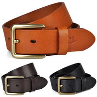 Wholesale smileseller Holiday Gift Mens Fashion Belt New Brand Genuine Leather Pin Buckle Belts GR66