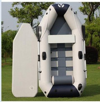 Wholesale Thickening inflatables laminated boat double kayak hard inflatable boat hovercraft fishing boat