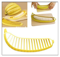 Wholesale Banana Slicer Chopper Cutter Peeler Fruit Salad Sundaes Cereal Easy Kitchen Tools Gadget Helper