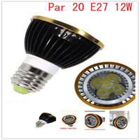 Power LED 12W 110V-240V Par20 12W Dimmable LED lighting Spot Ceiling wall lamp Par 20 E27 Supermarket Hotel decorating led bulbs 110V 220V Free Shipping 50pcs lot