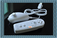 Wholesale XJOY White Mini Remote Wiimote Nunchuk Nunchuck Controller for F1361 Retail P