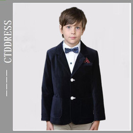 Wholesale Fashion black Notch lapel party suits for boys two pieces new year new style coming