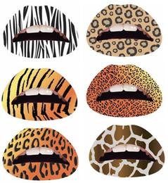 Wholesale lip tattoo stickers LIP TATTOOS STICKERS TEMPORARY MAKEUP Hot Lip Sticker lip Tattoos patterns