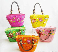Hangbags Girl 1-3T Hot Sale New Children's Bags Sweeet new designer crochet children handbag for little girl knitted bag