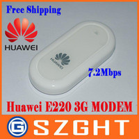 Wholesale Freeshipping Cheap UNLOCKED HUAWEI E220 G HSDPA USB MODEM Mbps wireless network card support google android tablet PC