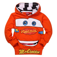 Boy Spring / Autumn Hooded Wholesale - Retail 1PCS Fashion kids boys hoodies Children's Cartoon Cars T shirt Sweatshirt car children hoody clothing