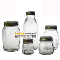 Wholesale FreeShipping Glass bottle sealed cans honey bottle jam bottle kupper glass