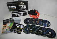 Best best sell arrival Focus T25 WORKOUT FITNESS 10DVD SET WITH RESISTANCE BAND